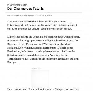 In Dürrenmatts Garten: Der Charme des Tatorts | NZZ