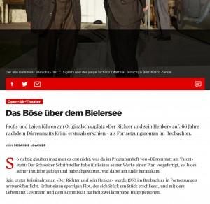 Open-Air-Theater: Das Böse über dem Bielersee - Beobachter